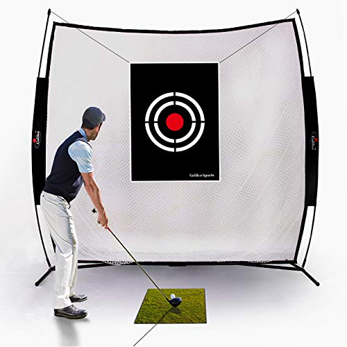 Galileo Golf Practice Net Golf Hitting Nets Driving Range Indoor&Outdoor Golf Training Aids with Target&Carry Bag(7x7ft)