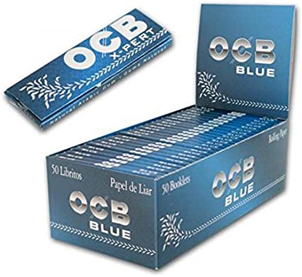 PAPEL DE FUMAR OCB AZUL BLUE PACK 50LIBRILLOS LIAR SMOKING CIGARETTE 50-OCB AZUL: Amazon.es: Electrónica