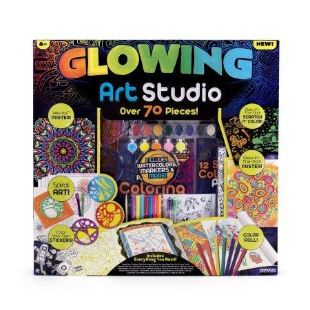 Amazon.com: Glowing Art Studio Kit by Horizon Group USA: Toys & Games