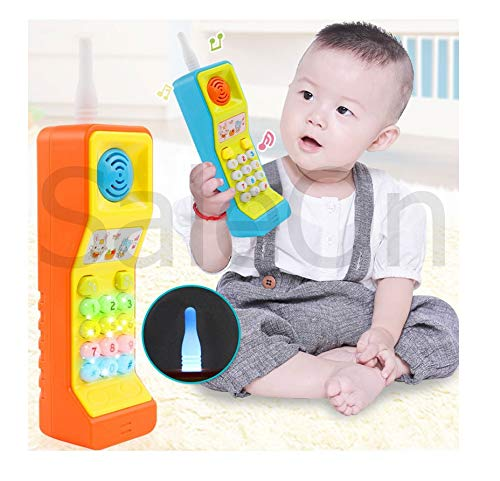 SaleOn Mobile Phone Toy Intelligent Learning Machine Study Learn Words Sing Song Plastic Hobby Intelligence Gifts Educational for Kids (Assorted Colors)-1160