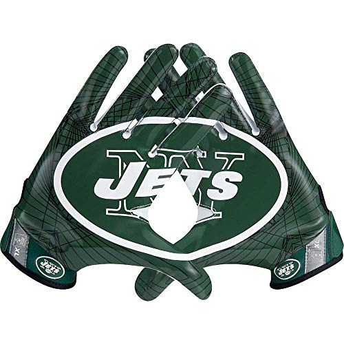 Nike Vapor Jet 4 New York (NY) Jets Football Receiver Gloves High Speed Skill with Magnigrip - Small ()