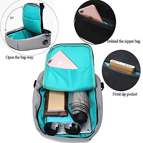 Shoulder Grigio Handbag corpo Nero Blu per il Qztg Cloth Mens nero chiaro Zipper Navy Handbags scuro Zaino Oxford Sling q4dXpxXzwT