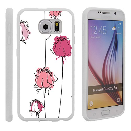 (Samsung Galaxy S6 G920 Flex Force Case - Flexible Slim Fit TPU Case Cover Floral Art Collection Series for Samsung Galaxy S6 G920 by Miniturtle - Rose Buds)