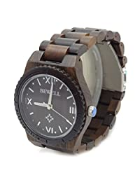 Handmade Bewell Wooden Watch Made with Natural sandalwood in Brown - HGW-094