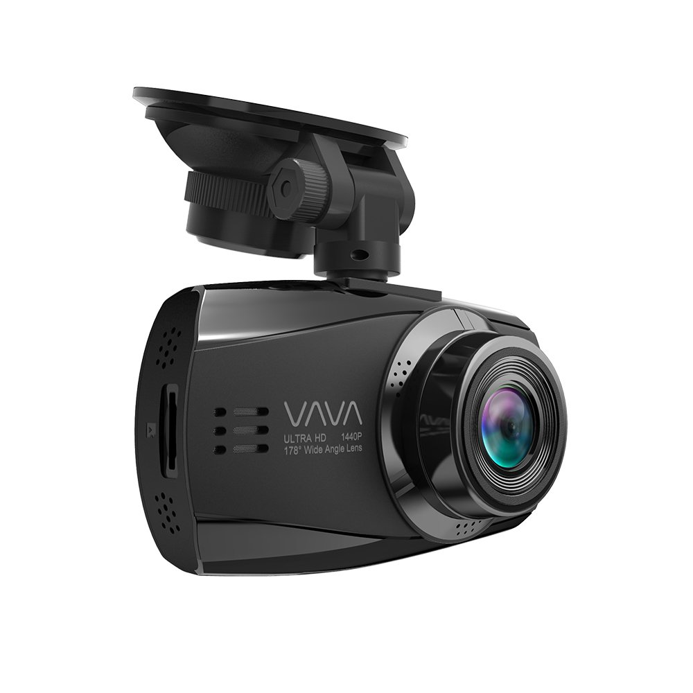 Dash Cam with Ambarella A12 Processor for 1440P 30fps / 1080P 60fps Footage, F1.8 Aperture 178 Degrees Wide Angle Lens, Loop Recording, Parking Mode - Dual USB Port Charger VAVA VA-CD007