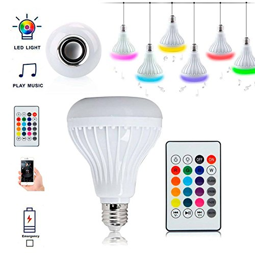 Bluetooth Speaker 12W RGB LED Light Bulb E27 Wireless Music Playing with Remote - Cheapest Mermaid Tails