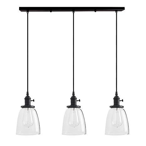 3 Lights Pendant Lighting Industrial Chandelier Copper