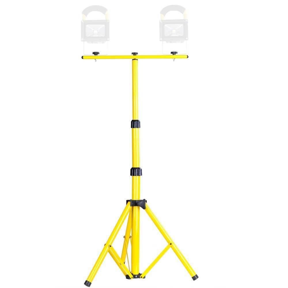 Triprel Inc. Tripod Stand W/ T Bar For LED Flood Light Camp Construction Site Work Lighting
