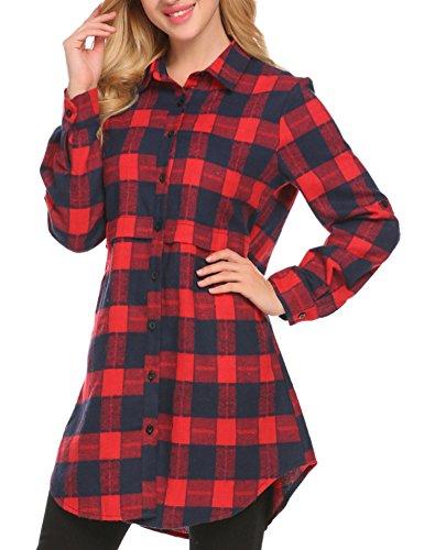 flannel tunic dress - 2