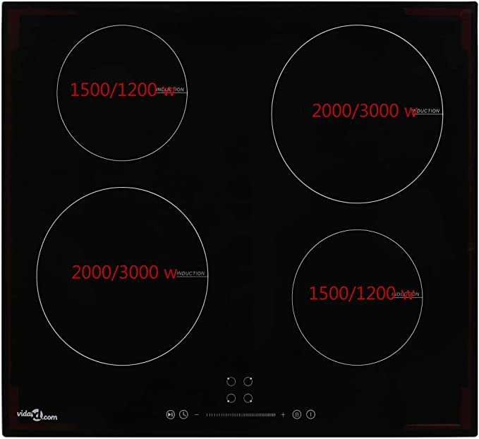 mewmewcat Placa vitrocerámica de inducción 4 quemadores ...