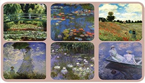 - Coasters - Set of 6 Assorted Images by Claude Monet, Cork Backed hardboard