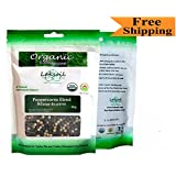 Certified Organic 80g/2.86oz Gourmet Ceylon Black and White Peppercorns Blend
