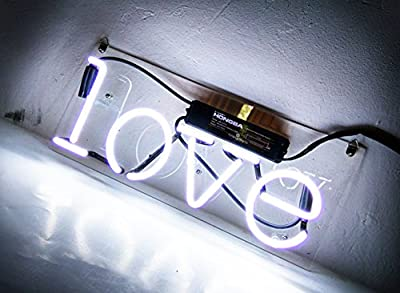 "Cool Neon Wall Sign Love Led Lamp Light Display for Girls Bedroom Beer Bar Pub Hotel Beach Recreational Game Room Decor 13"" x 6"""