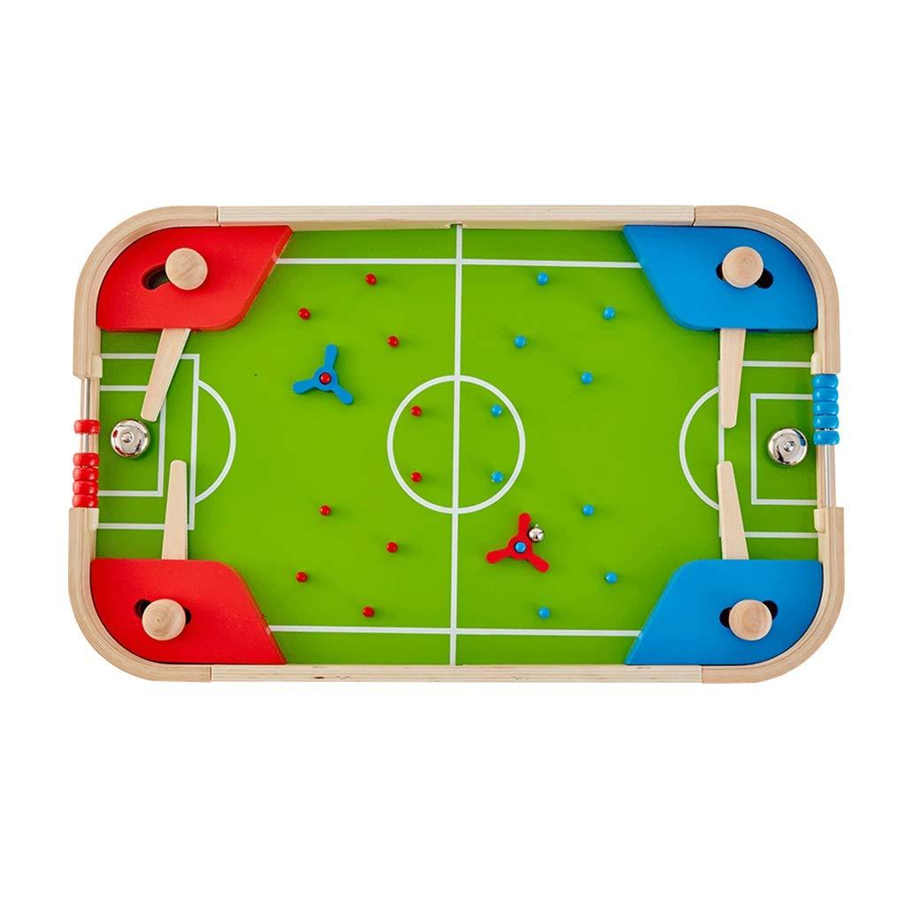 テーブルサッカー子供のテーブルのピンボールマシン、マニュアルサッカーのおもちゃダブルゲームのおもちゃ遥子インタラクティブテーブルおもちゃ (Color : Green, Size : 57.4 * 35.4 * 6.5cm) B07G4TD52P Green 57.4*35.4*6.5cm