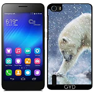DesignedByIndependentArtists Funda para Huawei Honor 6 - Un Oso Polar En El Agua by Gatterwe