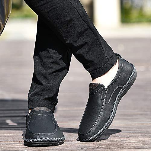 Nero Fashion 43 EU mano Colore tip Slip Nero casual da U su a fatte business mocassini uomo Scarpe ZHRUI Dimensione nZfqU0x