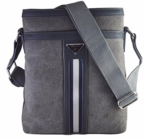 Skoot wax coated cotton canvas messenger Bag for Ipad/Tablet Upto 10