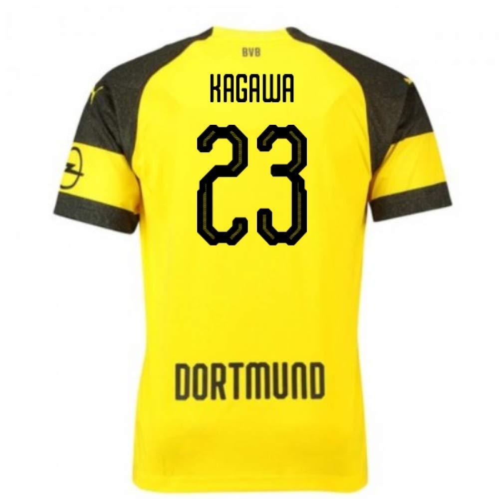 新着商品 2018-2019 Shirt Borussia Dortmund Puma Home Football Shirt (Shinji Puma Kagawa Dortmund 23) B07H9RMMZR Large Adults Yellow Yellow Large Adults, 【超特価sale開催!】:ef458a99 --- svecha37.ru
