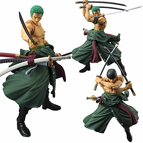 Megahouse One Piece: Roronoa Zoro Variable Action Heroes PVC Figure (Variable Action Heroes Roronoa Zoro Action Figure)
