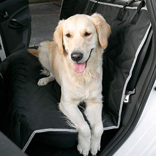 WEUPE Dog Car Seat Covers for Back Seat, Pet Car Seat Cover, Quilted Waterproof Back Seat Protector, Car Hammock for Dogs, Scratch Proof, Nonslip, Universal Size Fits for Cars, Trucks SUVs