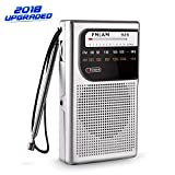 AM FM Pocket Radio, AM FM mini Radio Portable with Superior Reception and Clear Sound, Battery Operated Pocket Radio with 3.5mm Headphone Jack