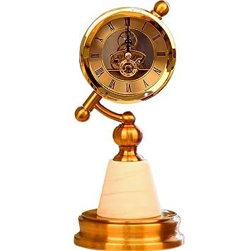 Relojes de mesa de sobremesa Reloj de sobremesa Europeo Decoración de la Sala de Estar en casa Dormitorio Porche Decoración Decoración: Amazon.es: Hogar