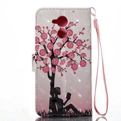 COWX Honor 6C Hülle Kunstleder Tasche Flip im Bookstyle Klapphülle mit Weiche Silikon Handyhalter PU Lederhülle für Huawei Honor 6C Tasche Brieftasche Schutzhülle für Huawei Honor 6C schutzhülle jqXUo