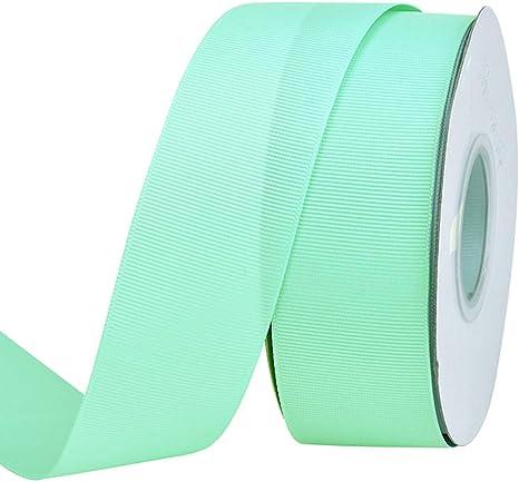 "10 yards Mint green 1//4/"" grosgrain ribbon by the yard DIY hair bows"