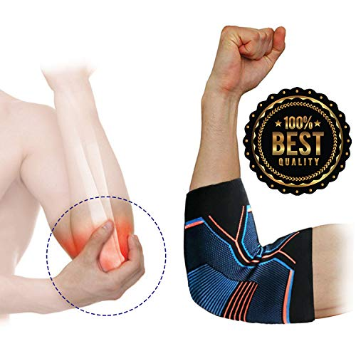 (Elbow Brace Compression Sleeve for Tendonitis Pain,Tennis Elbow Brace Elbow Sleeve for Pain Relief Recovery, Arm Support Sleeve for Arthritis Workouts Weightlifting Basketball Reduce)