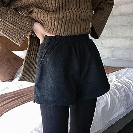 5baa117b4141bf YYJZJW Pantaloncini da Donna Pantaloncini da Donna Gonne Corte Pantaloncini  di Lana Stivali Invernali da Donna