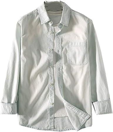 NOBRAND Camisa vaquera de manga corta para hombre de primavera y verano: Amazon.es: Ropa y accesorios