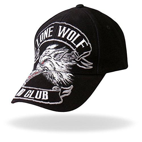 (Hot Leathers BCA1030 Lone Wolf Baseball Hat)