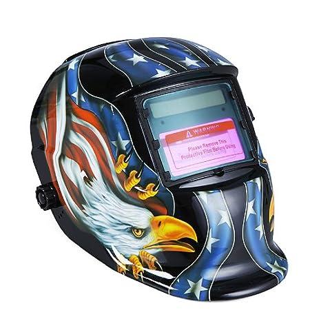 KKmoon Arc Tig Mig Grinding Eagle, Máscara de soldador de soldador de oscurecimiento automático solar, azul: Amazon.es: Bricolaje y herramientas