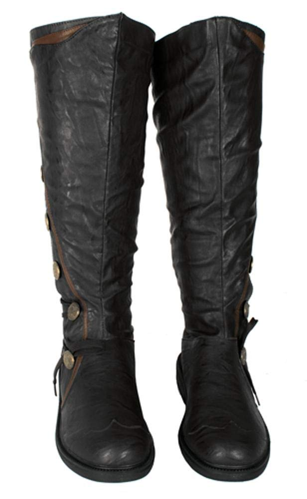 Military Steampunk Western Vintage Style Halloween Costume Adult Mens Boots 4