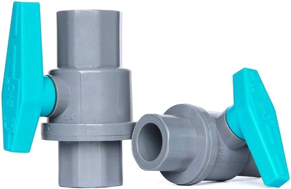 Color : 3I4 Inch Female, Diameter : White 1pc 20~63mm 1//2~2 PVC Ball Valve Garden Irrigation Water Supply Globe Valve Aquarium Tank Water Pipe Connectors