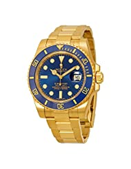 Rolex Submariner 18kt Yellow Gold Oyster Bracelet Mens Watch 116618BLSO