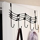 Blue Stones Door Back Metal Notes Wall Hooks Kitchen Bathroom Organizer Hanger Hooks With 5 Hook