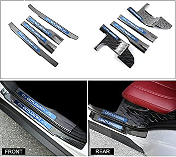 8Pcs Fits Mitsubishi Outlander 2013-2018 Door Side Sills Scuff Plate Guard Trim