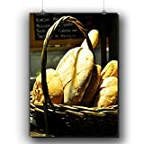 Basket Of Bread Food Picture Matte/Glossy Poster A3 Review and Comparison