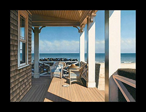Buyartforless Framed Nantucket Shore by Daniel Pollera 14x11 Coastal Art Print Poster