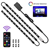 LED Strip Lights, HitLights 3 Pre-Cut 12Inch/36Inch LED Light Strip Accent Kit for 35-60in TV, Flexible Color Changing SMD 5050 LED Accent Kit with RF Remote, Power Supply and Connectors
