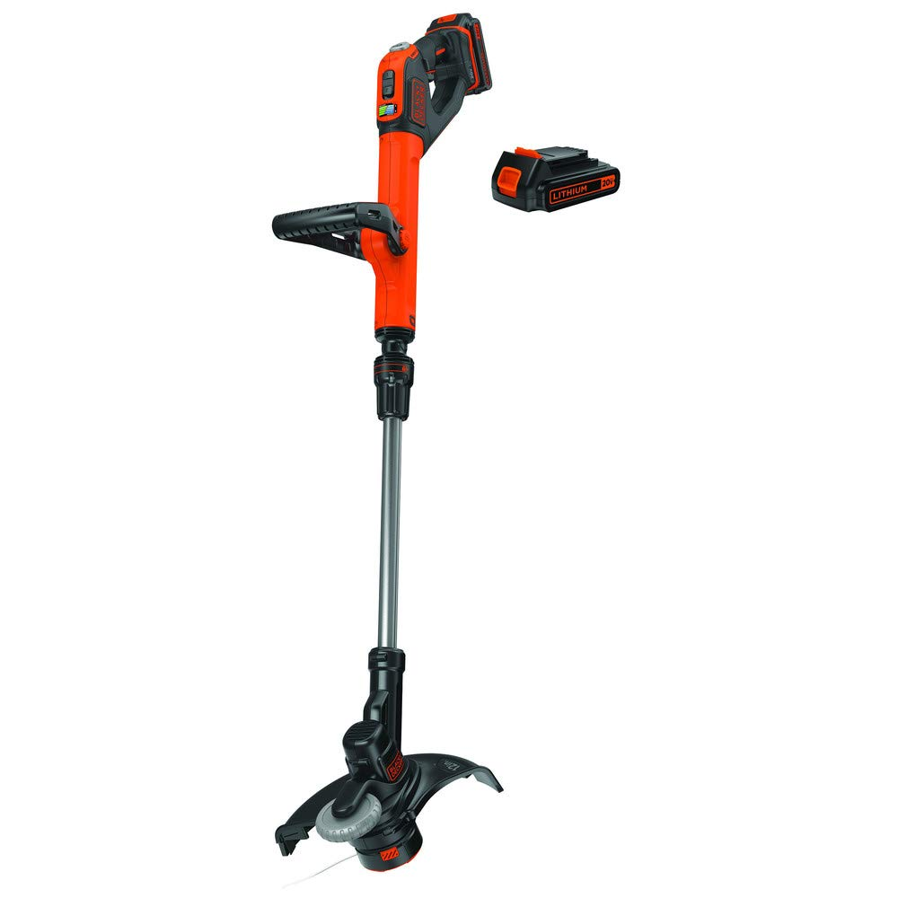 Black Decker LSTE525R 20V MAX 1.5 Ah Cordless Lithium-Ion EASYFEED 2-Speed 12 in. String Trimmer Edger Kit Renewed