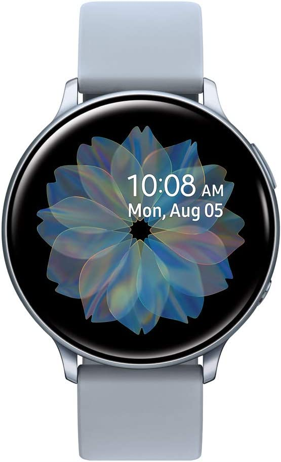 Samsung Galaxy Watch Active2 W/ Enhanced Sleep Tracking Analysis, Auto Workout Tracking, and Pace Coaching (44mm, GPS, Bluetooth), Silver - US Version with Warranty