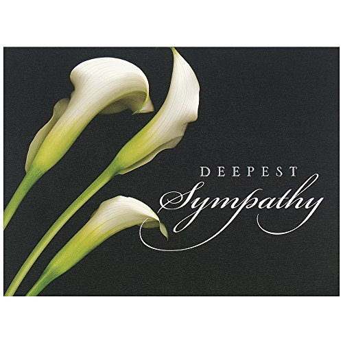 - JAM PAPER Blank Sympathy Greeting Cards & Matching Envelopes Set - Sympathy Calla Lilies Theme - 25/Pack