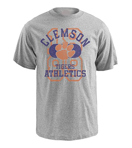 NCAA Clemson Tigers Pro Weight Short Sleeve Logo T-Shirt, Large