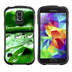 All-Round Hybrid Rubber Case Hard Cover Protective Accessory Gerneration-I Compatible with SAMSUNG GALAXY S5 - Crystal Water Drops