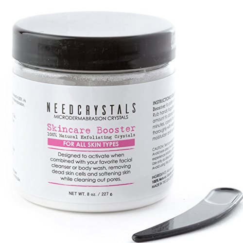 NeedCrystals Microdermabrasion Crystals (8 oz, 120 grit) - Face Exfoliator