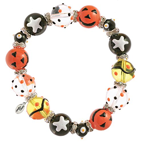 Clementine Design Kate & Macy Pumpkin Patch Bracelet Painted Glass Beads - Glasses Macy's Crystal