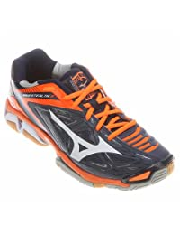 Mizuno Wave Stealth 3 Court Shoes, Dress Blue, White, 9