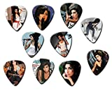 Amy Winehouse (Tribute Edition) Set of 10 Electric Acoustic Guitar Plectrums